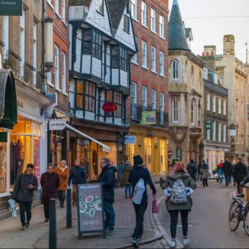 Which town or city has Britain's most promising high street?
