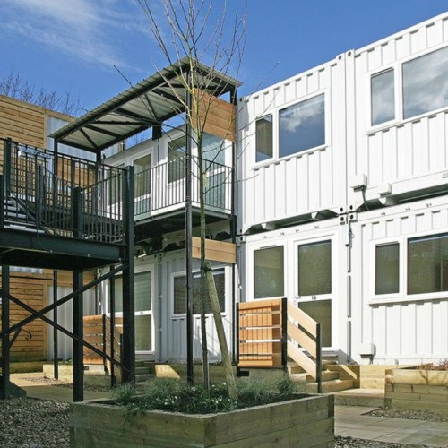 Converted shipping containers are tackling homelessness in London.