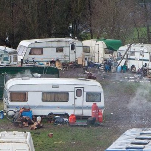 Travellers who set up a campsite land would breach their 'human rights'