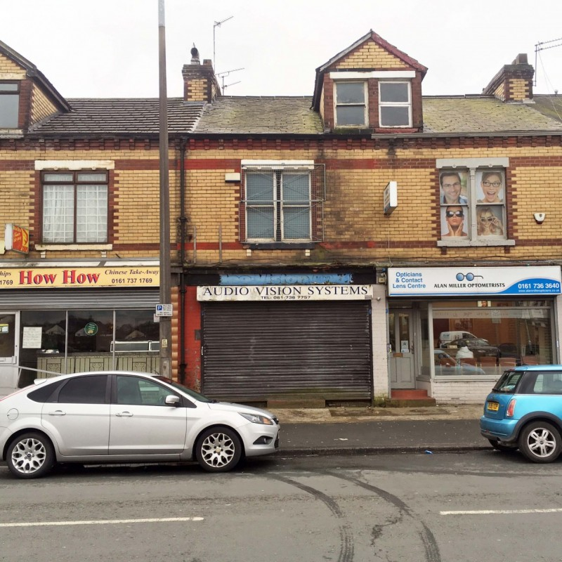 Conversion of A1 shop to 4 flats