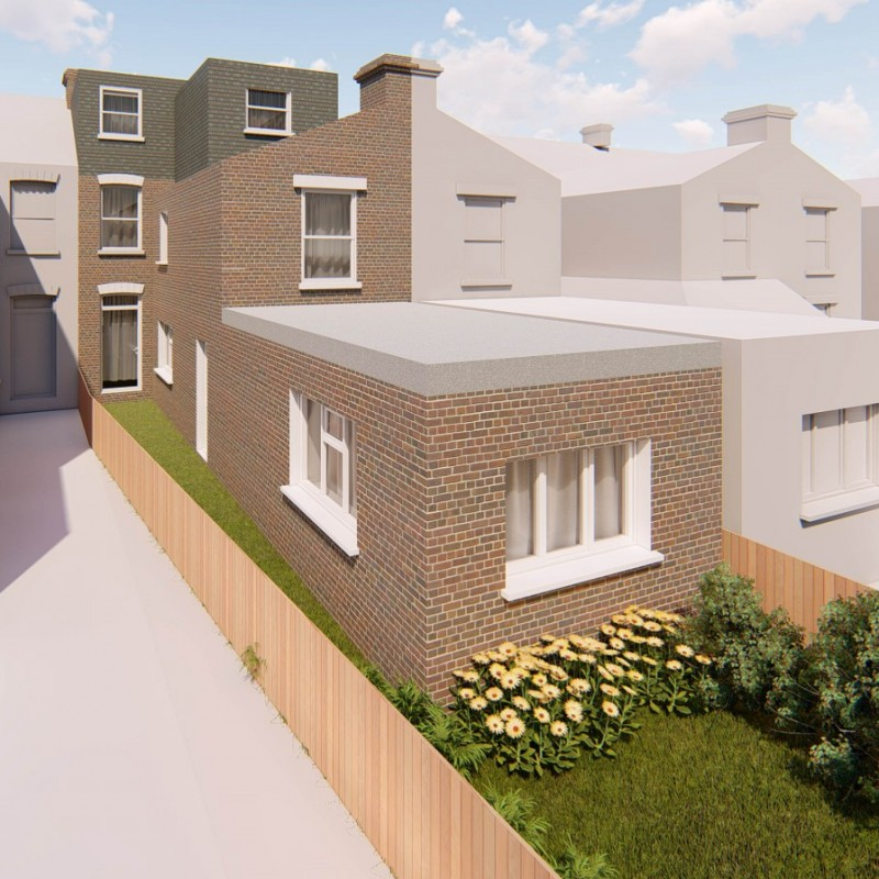 Conversion of House to 7 Person HMO, Roof Extension, Single Storey Extension