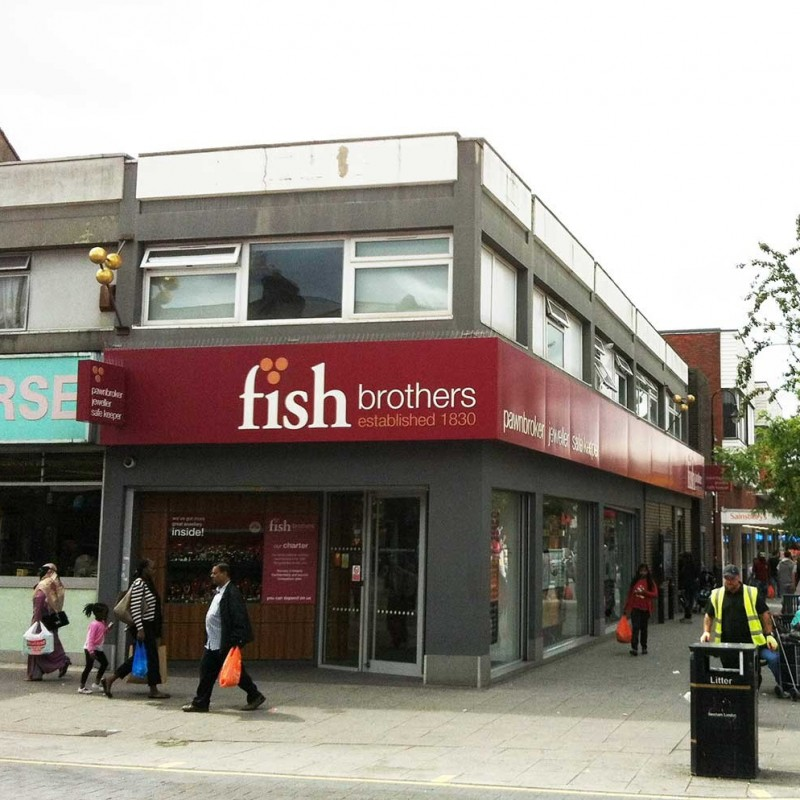 Alterations to shop front in busy High Street