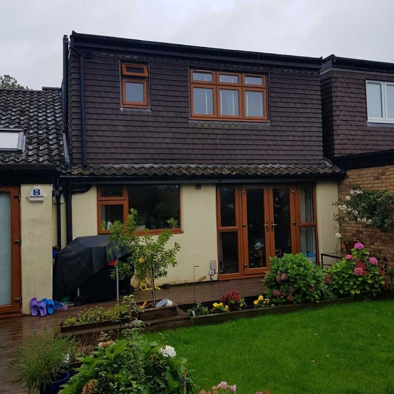 Single storey front, side and rear extensions with front dormer extension