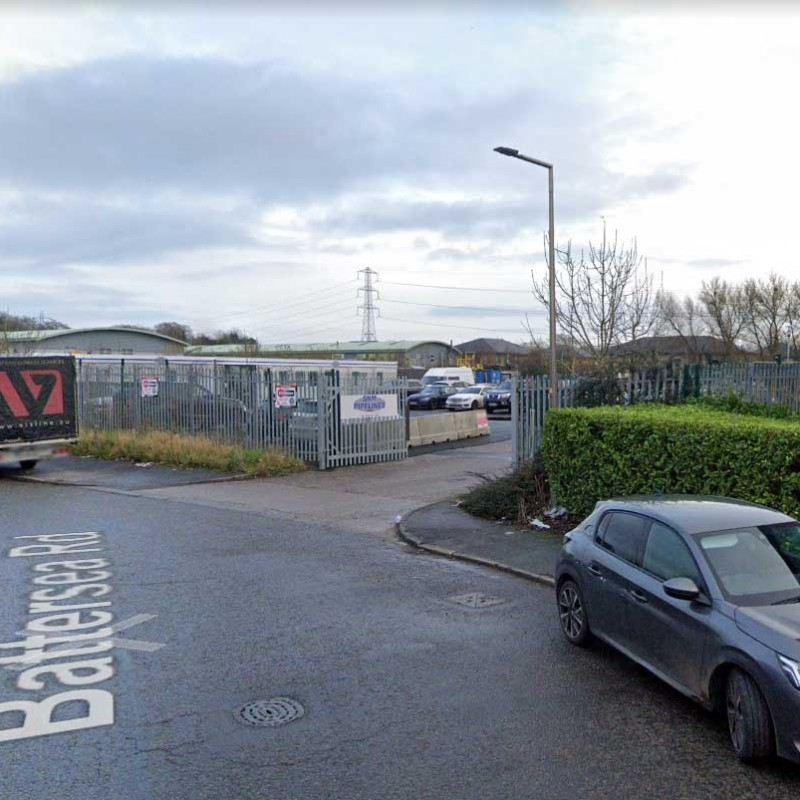 Application change of use from car park to industrial use