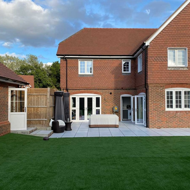 Single storey rear extension including roof terrace and swimming pool enclosure